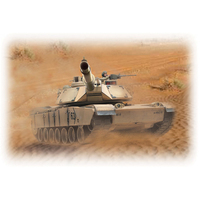 HOBBY ENGINES ECONOMY VERSION M1A2 ABRAMS TANK  SAND COLOUR W/ 2.4GHZ RADIO