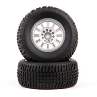 HELION HLNA0077 TIRES. MOUNTED. SILVER WHEEL. PAIR (DOMINUS. SC)