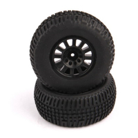 HELION HLNA0153 TIRES. MOUNTED. BLACK WHEEL. PAIR (DOMINUS. SC)