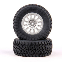 HELION HLNA0154 TIRES. AT2. MOUNTED. SILVER WHEEL. PAIR (DOMINUS. SC)