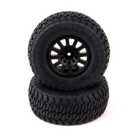HELION HLNA0155 TIRES. AT2. MOUNTED. BLACK WHEEL. PAIR (DOMINUS. SC)