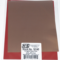 K&S 16140 CORRUGATED SHEETS .003 COPPER 5IN X 7IN (2 PIECES PER BAG) INHOIN