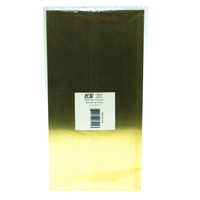 K&S 16402 BRASS SHEETS (6IN X 12IN) .010 (1 SHEET PER PACKAGE)