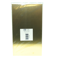 K&S 16404 BRASS SHEETS (6IN X 12IN) .016 (1 SHEET PER PACKAGE)
