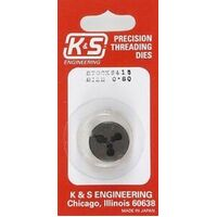 K&S 415 0-80 THREADING DIE  (1 PIECE)