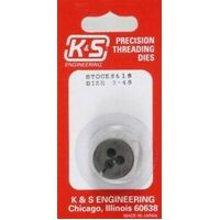 K&S 418 3-48 THREADING DIE (1 PIECE)