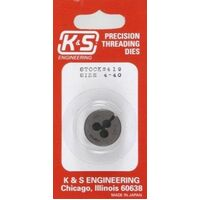 K&S 419 4-40 THREADING DIE (1PIECE)