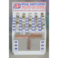 K&S 5500 SMALL STRUCTURAL SHAPES ASSORTMENT WITH DISPLAY