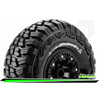 CR-GRIFFIN - 1-10 Crawler Tire Set - Mounted - Super Soft - Black 2.2 Wheels - Hex 12mm