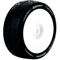 B-Phantom 1/8 Buggy Soft White Rim Tyres