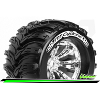 MT-Cyclone 1/8 Monster Truck Tyres Chrom