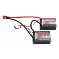 7.4v 5800mah saddle CarbonPro 100C Deans