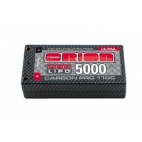 Carbon Pro Ultra LiPo 5000 110C 7.4V XS 25mm Shorty Pack