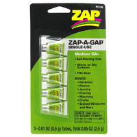 ZAP PT-105 .01 OZ. GREEN SINGLE USE ZAP-A-GAP (CARDED 5 PACK)