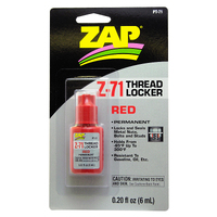 ZAP PT-71 0.20 OZ. Z-71 PERMANENT THREAD LOCKER (RED) (CARDED)