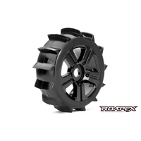 PADDLE 1/8 BUGGY TIRE BLACK WHEEL WITH 17MM HEX MOUNTED