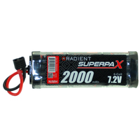 RADIENT SUPERPAX NIMH BATTERY SC 7.2V 6-CELL 2000MAH STICK PACK: DEANS