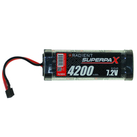 RADIENT SUPERPAX NIMH BATTERY SC 7.2V 6-CELL 4200MAH STICK PACK: DEANS