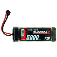 RADIENT SUPERPAX NIMH BATTERY SC 7.2V 6-CELL 5000MAH STICK PACK: DEANS