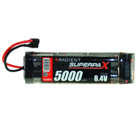 RADIENT SUPERPAX NIMH BATTERY SC 8.4V 7-CELL 5000MAH 6-1 STICK PACK: DEANS