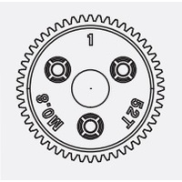 SPUR GEAR 52T 0.8P MET PIT Equivalent TRA6843
