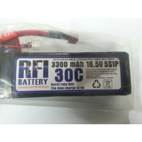 RFI LIPO 30C 18.5V 5 CELL 2200ma W/DEANS CONNECTOR
