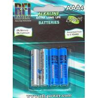 RFI AAA SIZE SUPER ALKALINE BATTERIES (4 PER CARD)