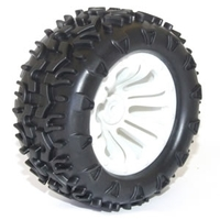 Wheel & tyre pair MT White (FTX-6310W)