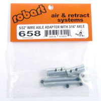 ROBART 5/32 INCH WIRE AXLE ADAPTER WITH 3/16 INCH AXLE