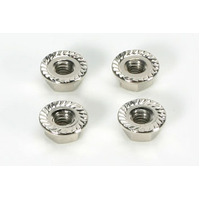 4mm Special Wheel Lock Nut (4) Silver