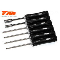 6 PIECE SET - Hex Wrench 1.5 / 2 / 2.5 / 3mm HEX screwdrivers and 5.5 / 7.0 socket drivers