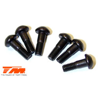 2.6x8mm Steel Button Head Screw(6)