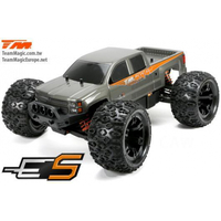 1/10th E5 BRUSHED monster truck silver