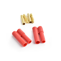4.0mm gold connector w/housing 2pcs/bag