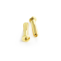 4.0mm Low Profile Gold Plated connector Male 2pcs/bag