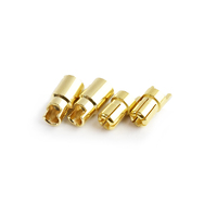 6.0mm gold plated connector(F&M)  2pairs/bag