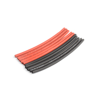 3mm PE heat shrink red & black-10cm long, 5sets/bag