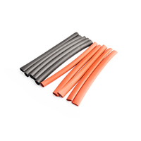 5mm PE heat shrink red & black-10cm long, 5sets/bag