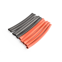 6mm PE heat shrink red & black-10cm long, 5sets/bag