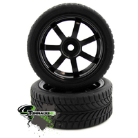 TORNADO RC 1/10 BLACK TIRES 1 PAIR  NOT GLUED