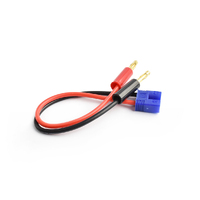 3.5mm male EC3 connector to 4.0mm connector charging cable 16AWG 15cm silicone wire