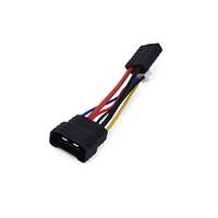 TRX ID Compatible LiPo Battery Adapter with 4S/3S/2S Balance Port - 5cm 14 AWG silicone wire /22AWG pvc wire Including