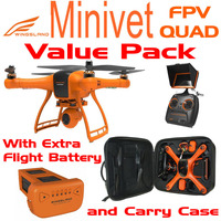 WINGSLAND MINIVET FPV QUAD W/ EXTRA BATTERY AND CARRY CASE