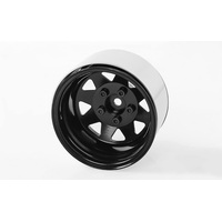 "RC4WD 5 Lug Deep Dish Wagon 1.9"" Steel Stamped Beadlock Wheels (Black)"